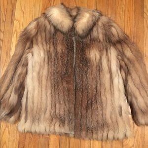 Vintage Saga Fox blue fox fur coat jacket Large